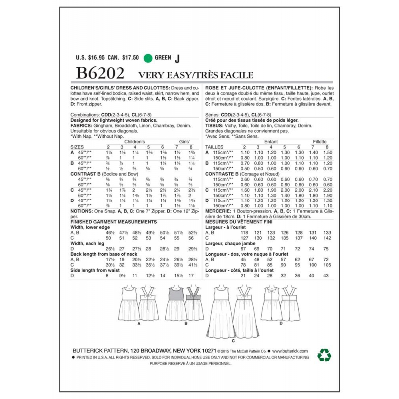 Wykrój Butterick B5967
