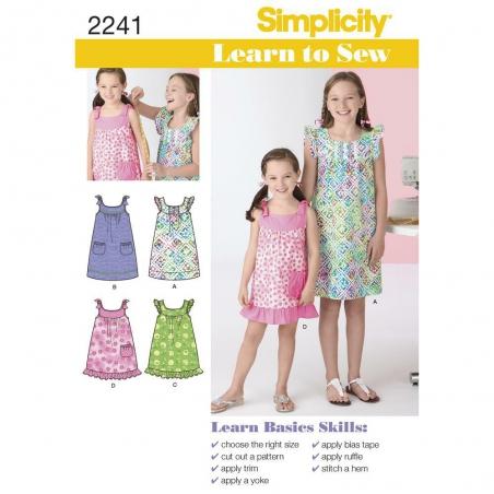 2241 simplicity girls pattern 2241 envelope front