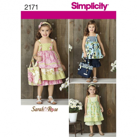 2172 simplicity girls pattern 2171 envelope front