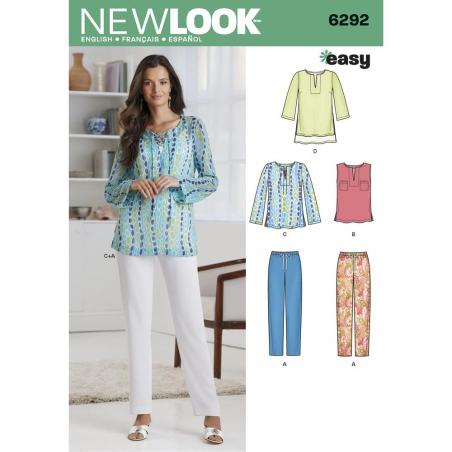 6292 newlook sportswear pattern 6292 envelope fron