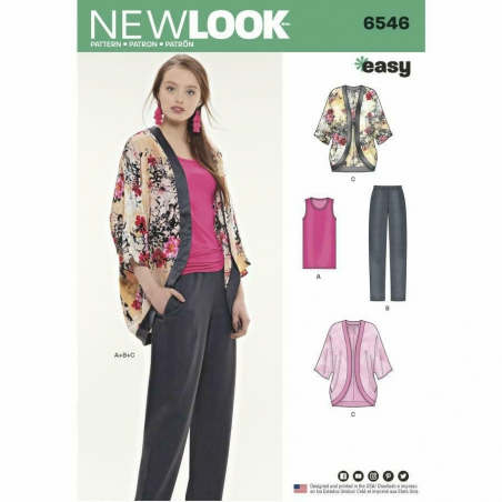 New Look  6546 envelope front
