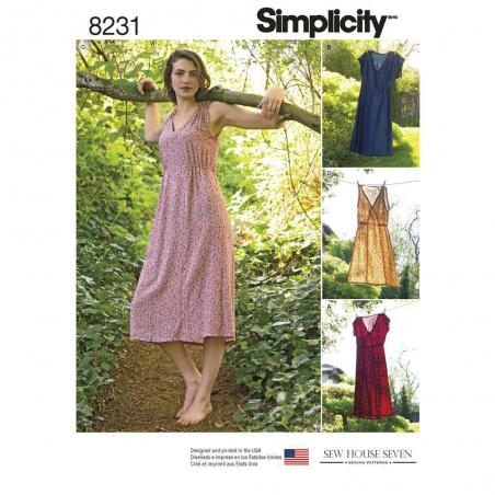 8231 simplicity dresses pattern 8231 envelope fron