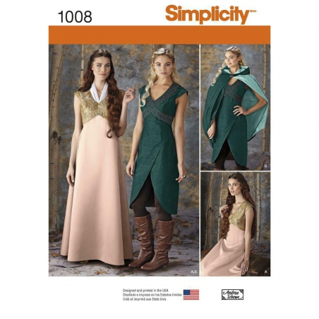 1008 simplicity costumes pattern 1008 envelope fro