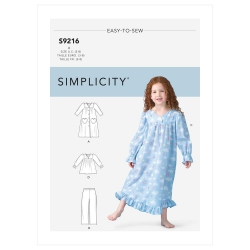 1575 simplicity girls pattern 1575 envelope back