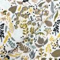 Organic tkanina bawełniana zielnik zielenie
