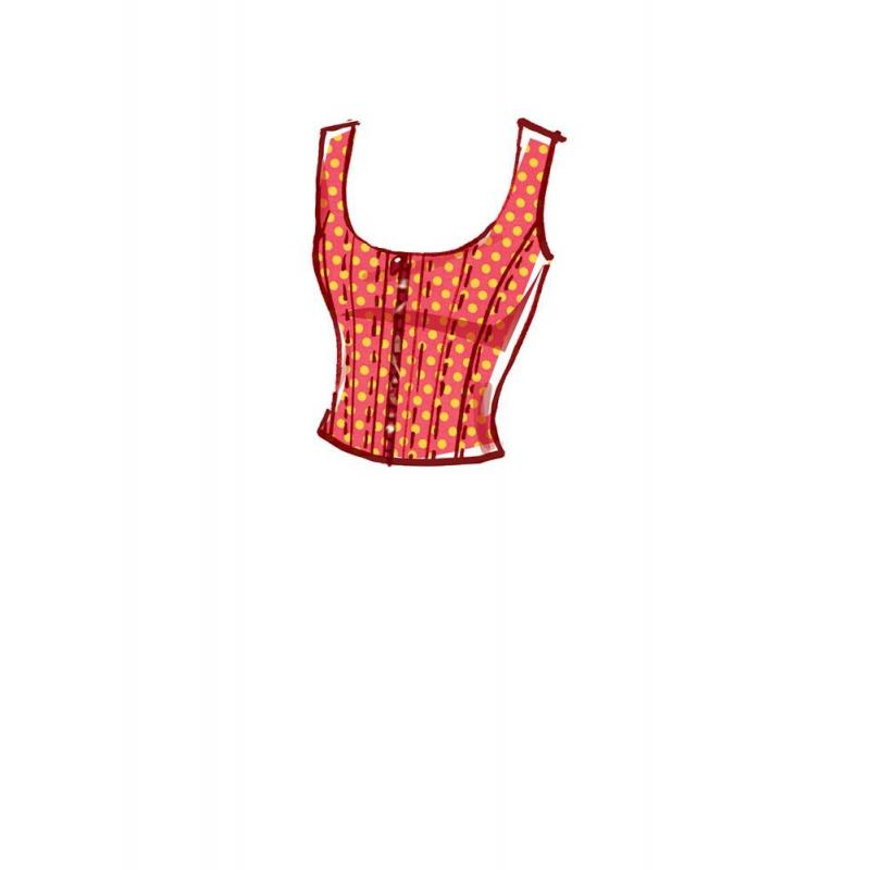 8417 simplicity top vest pattern 8417 envelope bac