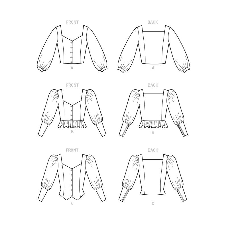 8417 simplicity top vest pattern 8417 front back v