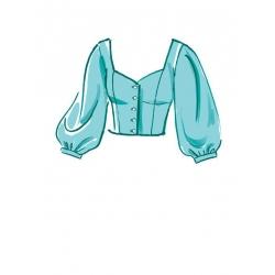 1simplicity vintage blouse cummerbund miss pat