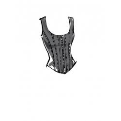 6simplicity vintage blouse cummerbund miss pat