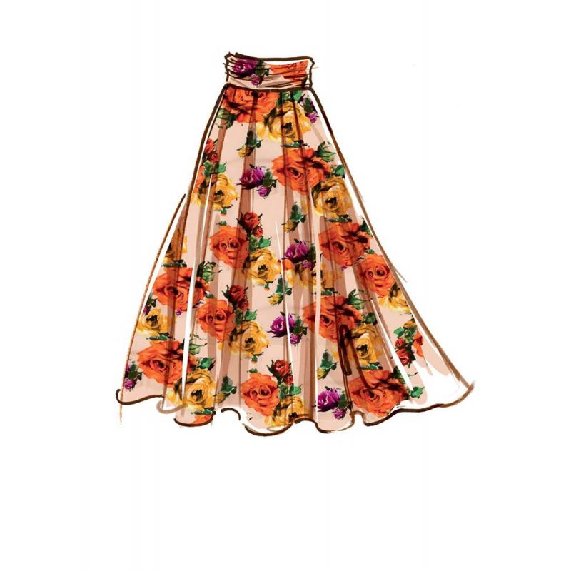 1369 simplicity skirts pants pattern 1369 front ba
