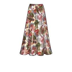 8663 simplicity off shoulder dress pattern 8663 AV