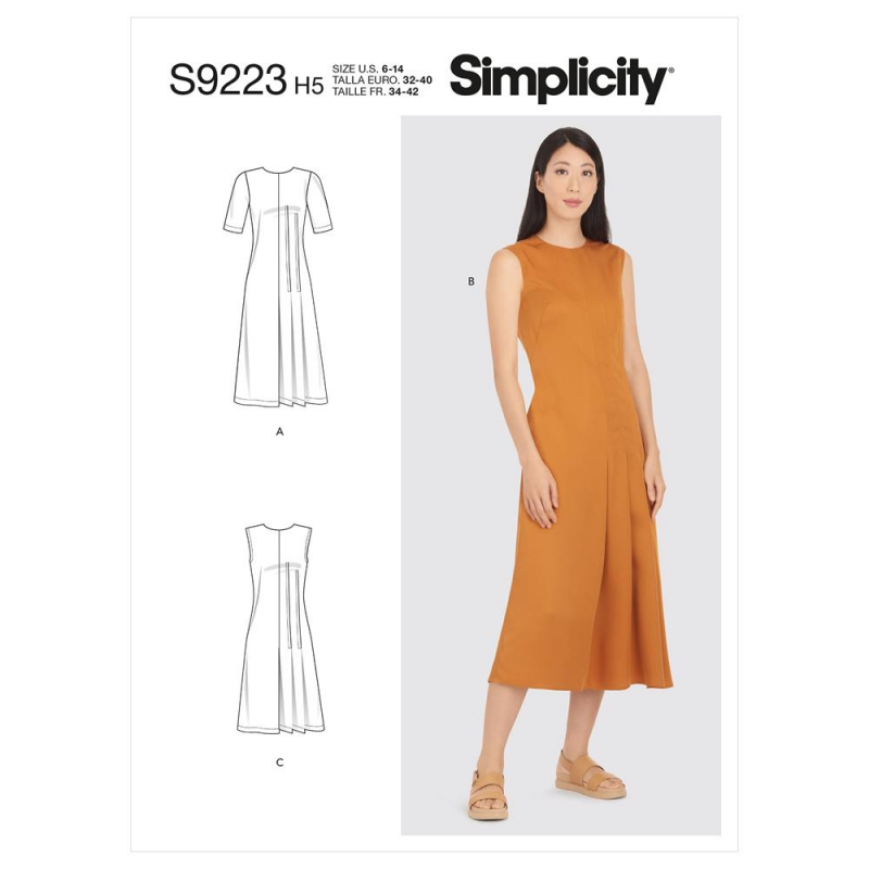 1461 simplicity tops vests pattern 1461 front back