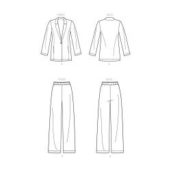 8697 simplicity boyfriend blazer pattern 8697 fron