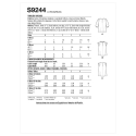 8698 simplicity track pant pattern 8698 front back