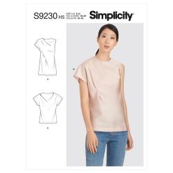 8734 simplicity amazing fit knit dress pattern 873