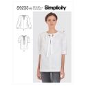 simplicity vintage blouse 1940s pattern 8736 av5