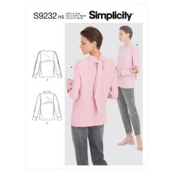 8737 simplicity top silky blouse pattern 8737 AV1