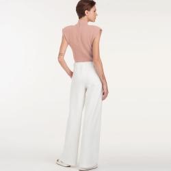 8735 simplicity wrap dress pattern 8735 front back