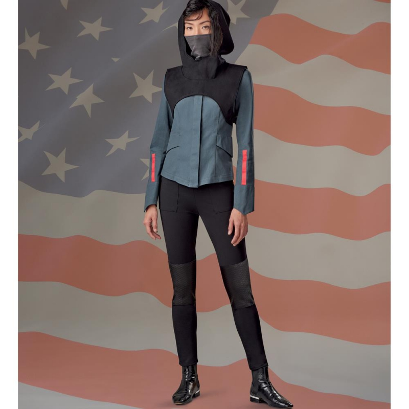 8744 simplicity fit flare pants pattern 8744 AV2