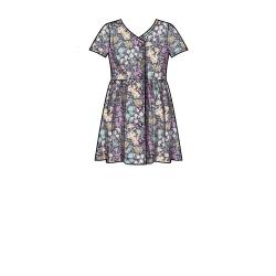 8786 simplicity plaid dress pattern 8786 AV2