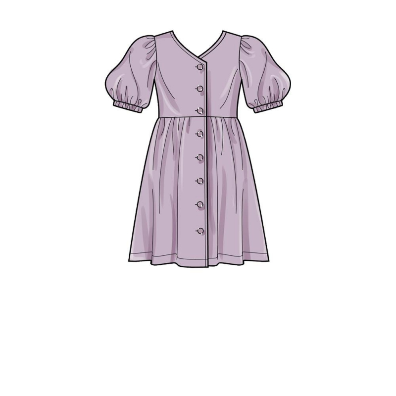 Wykrój 5simplicity learn to sew ruched dress p