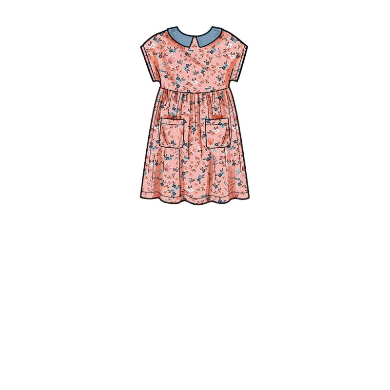 8786 simplicity plaid dress pattern 8786 front bac