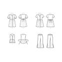 simplicity woven wrap top pattern 8791 envelop