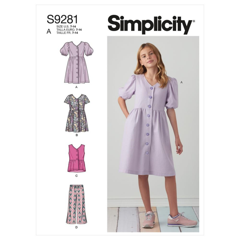 S8840 simplicity pleated top pattern S8840 AV1