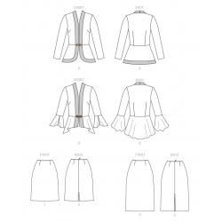 1570 simplicity girls pattern 1570 envelope back