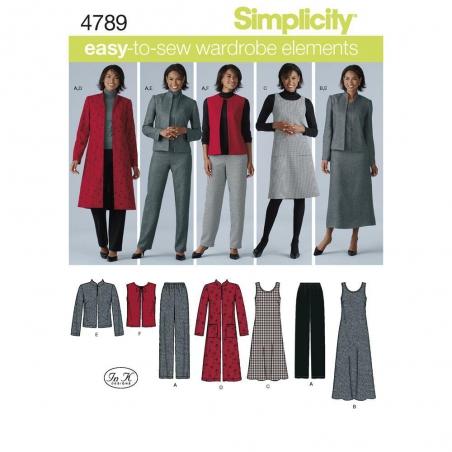 4789 simplicity sportswear pattern 4789 envelope f