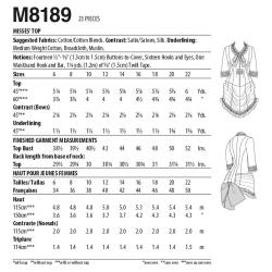 8794 simplicity bow sportswear pattern 8794 AV5