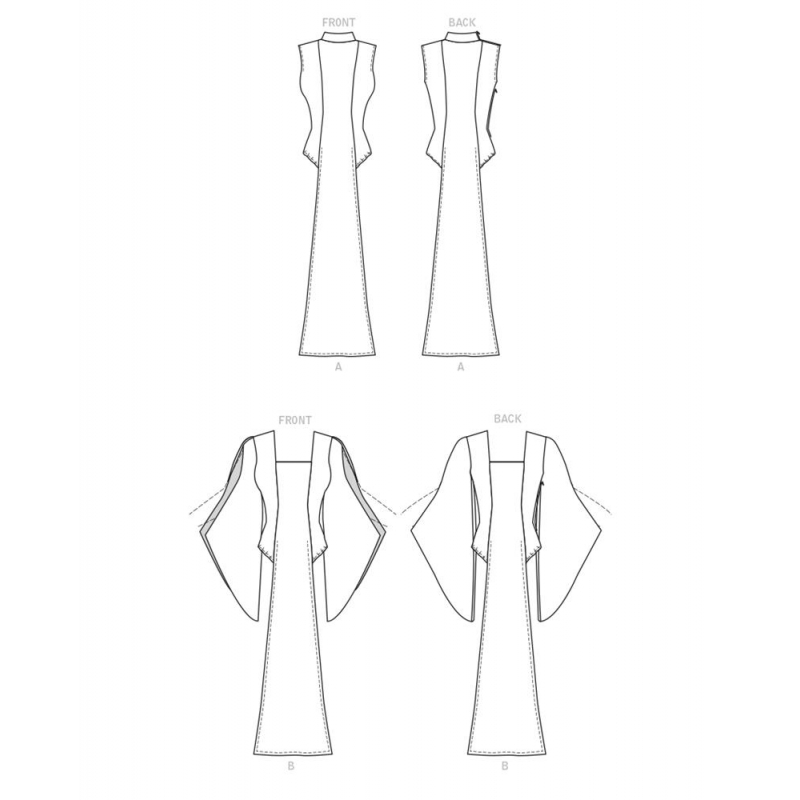 8796 simplicity classic tie waist coat pattern 879