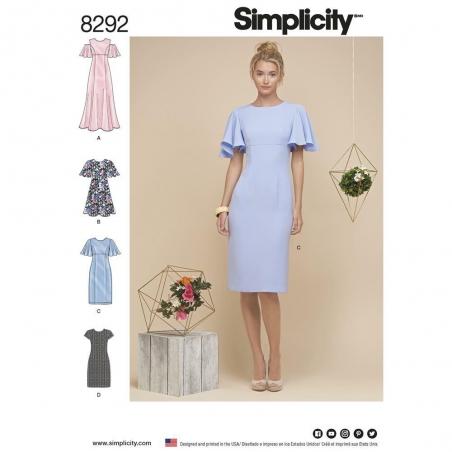 8292 simplicity dress pattern 8292 envelope front