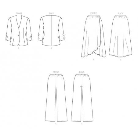 8637 simplicity wrap dress pattern 8637 envelope f