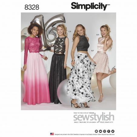 simplicity two piece dress pattern 8328 envelo