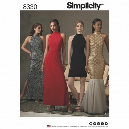 simplicity gown mermaid pattern 8330 envelope