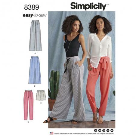 8389 simplicity pants pattern 8389 envelope front