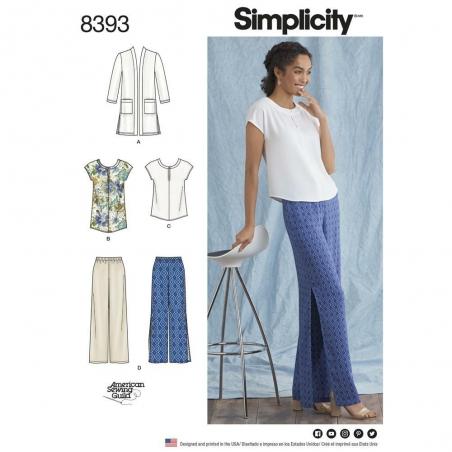 8393 simplicity sportswear pattern 8393 envelope f
