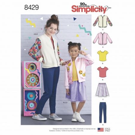 simplicity children bomber pattern 8429 envelo