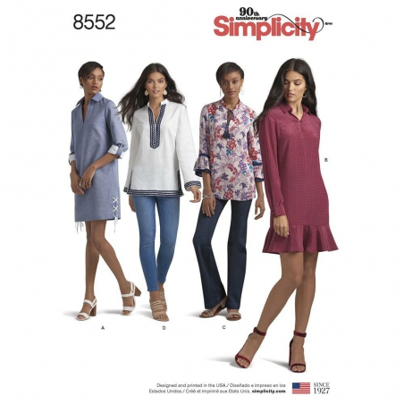 8552 simplicity tunics pattern 8552 envelope front