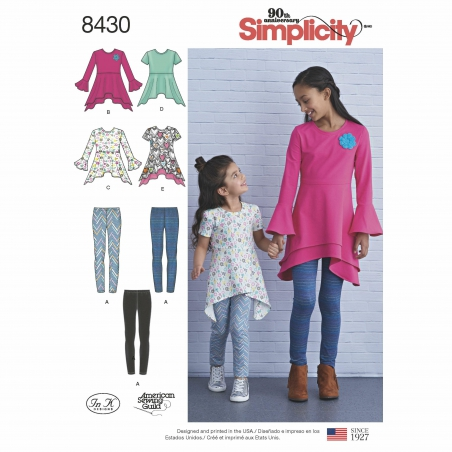 simplicity children separates pattern 8430 env