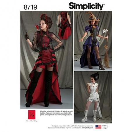 9 simplicity steampunk womens costumes pattern