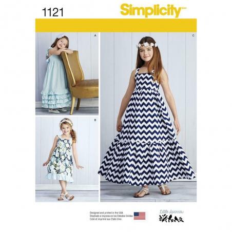 1121 simplicity girls pattern 1121 envelope front