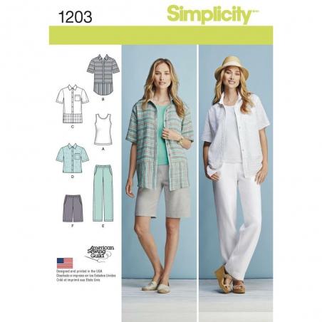 1203 simplicity sportswear pattern 1203 envelope f