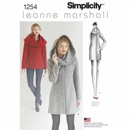 simplicity jackets coats pattern 1254 envelope