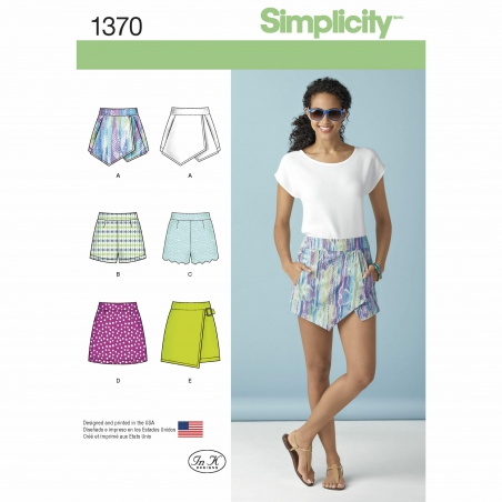 simplicity skirts pants pattern 1370 envelope
