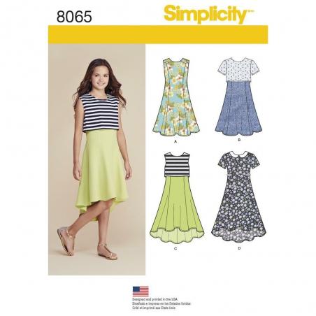 8065 simplicity girls pattern 8065 envelope front
