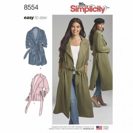 8554 envelope front Simplicity