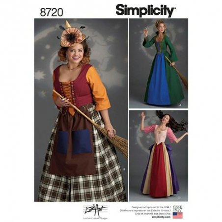 1 simplicity witch costumes pattern 8720 envel