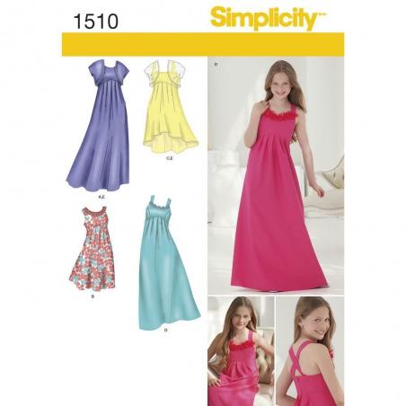 1510 simplicity girls pattern 1510 envelope front